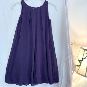 Un Deux Trois girl's purple balloon dress